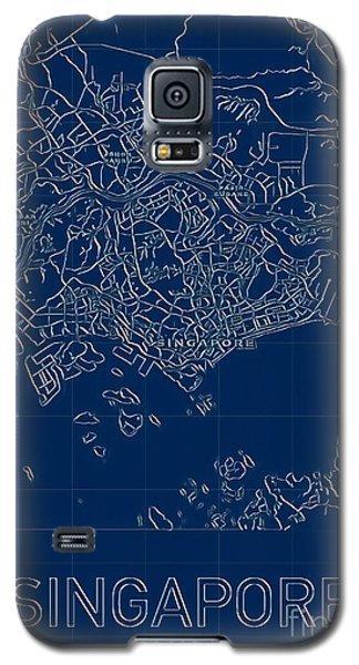 Singapore Blueprint City Map Galaxy S5 Case