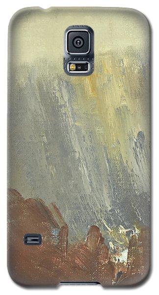 Skogklaedd Fjaellvaegg I Hoestdimma- Mountain Side In Autumn Mist, Saelen _1237, Up To 90x120 Cm Galaxy S5 Case