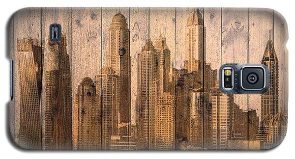 Skyline Of Dubai, Uae On Wood Galaxy S5 Case