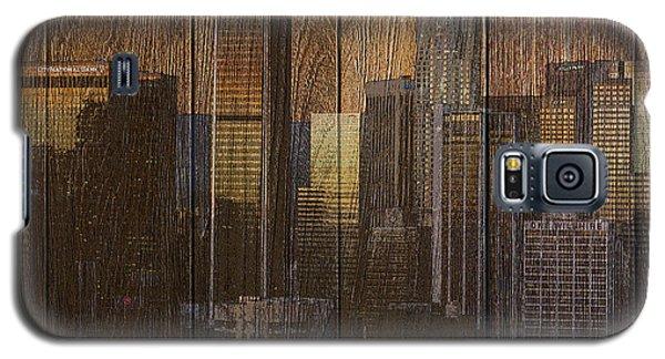 Skyline Of Los Angeles, Usa On Wood Galaxy S5 Case