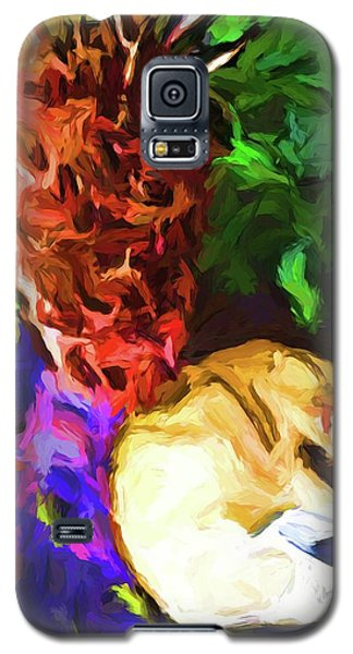 Sleeping Cat Under Tree Fern Galaxy S5 Case
