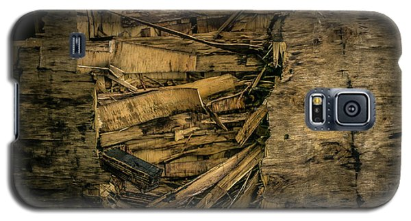 Smashed Wooden Wall Galaxy S5 Case