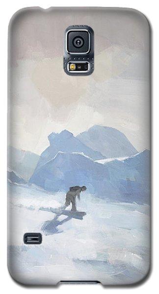 Snowboarding At Les Arcs Galaxy S5 Case