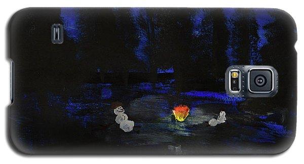 Snowmen Enjoy The Campfire  Galaxy S5 Case
