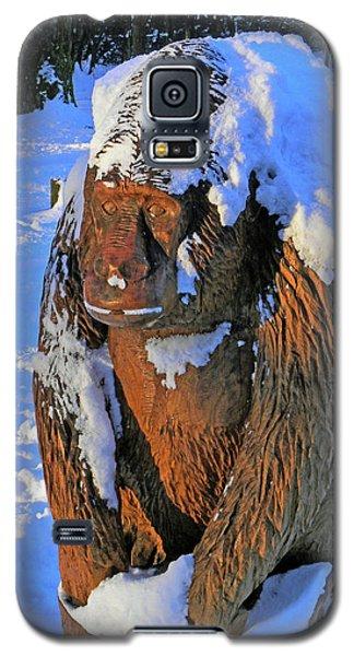 Snowy Gorilla Galaxy S5 Case