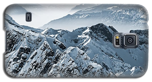 Icy Galaxy S5 Case - Snowy Mountains In The Swiss Alps. View by Antonio Jorge Nunes