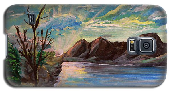 Snowy Range And Lookout Lake Galaxy S5 Case