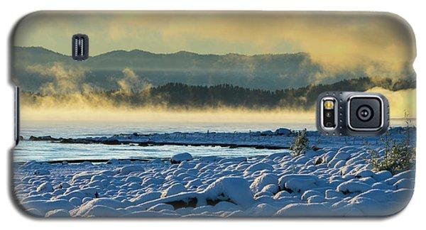 Snowy Shoreline Sunrise Galaxy S5 Case