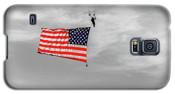 Socom Flag Jump In Selective Color Galaxy S5 Case