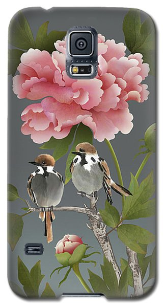 Sparrows And Peony Galaxy S5 Case