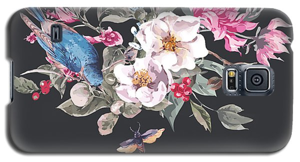 Branch Galaxy S5 Case - Spring Vintage Greeting Card With by Depiano