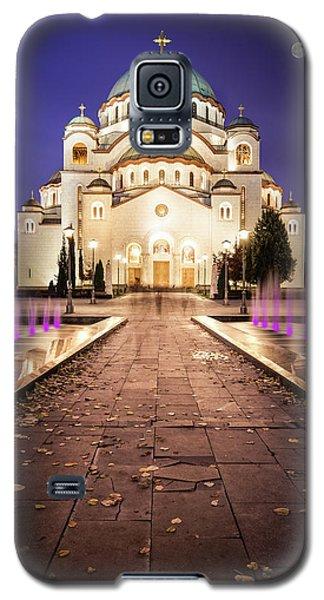 St. Sava Temple In Belgrade Nightscape Galaxy S5 Case