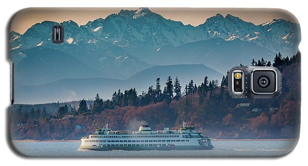 Sunset Galaxy S5 Case - State Ferry And The Olympics by Inge Johnsson