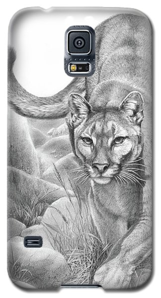 Stealth Mountain Lion Cougar Drawing Galaxy S5 Case