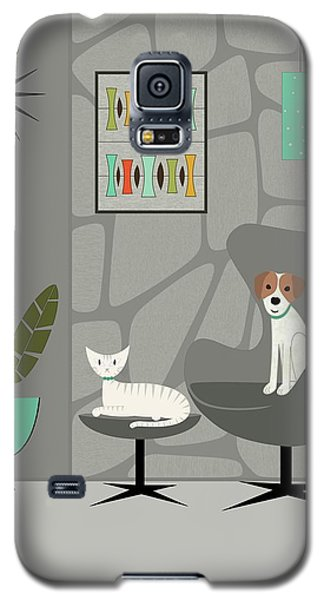 Stone Wall With Dog And Cat Galaxy S5 Case