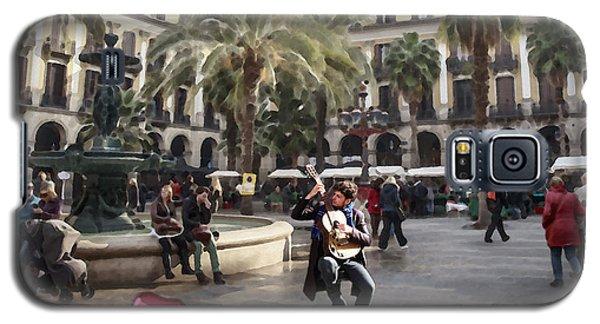 Street Music. Guitar. Barcelona, Plaza Real. Galaxy S5 Case