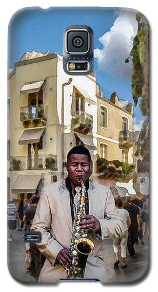 Street Music. Saxophone. Galaxy S5 Case