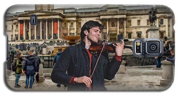 Street Music. Violin. Trafalgar Square. Galaxy S5 Case