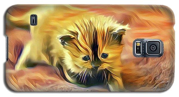 Striped Forehead Kitten Galaxy S5 Case