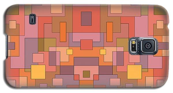 Summer Peach Abstract Galaxy S5 Case