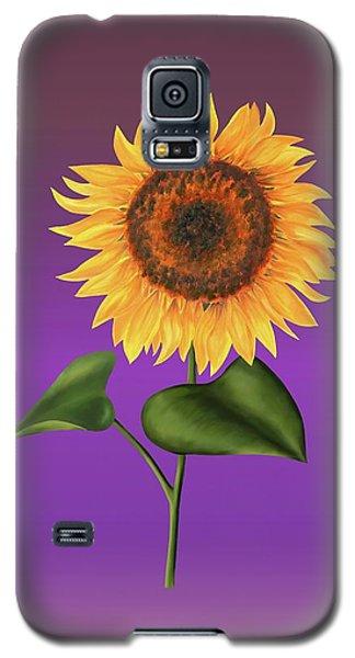 Sunflower On Purple Galaxy S5 Case