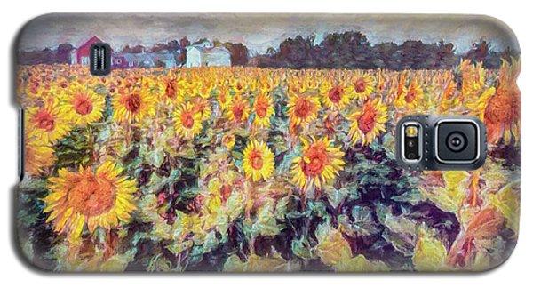 Sunflowers Surround The Farm Galaxy S5 Case