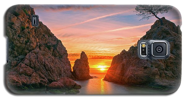 Sunrise In The Village Of Tossa De Mar, Costa Brava Galaxy S5 Case