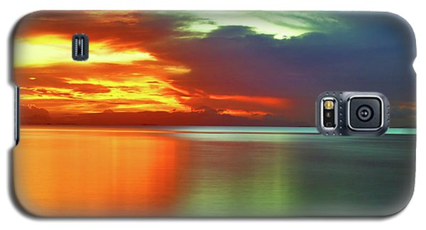 Sunset And Boat Galaxy S5 Case