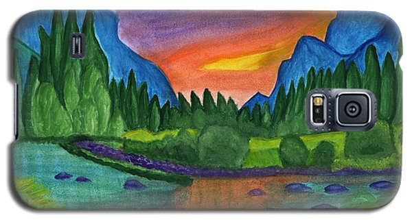Sunset By The River Galaxy S5 Case