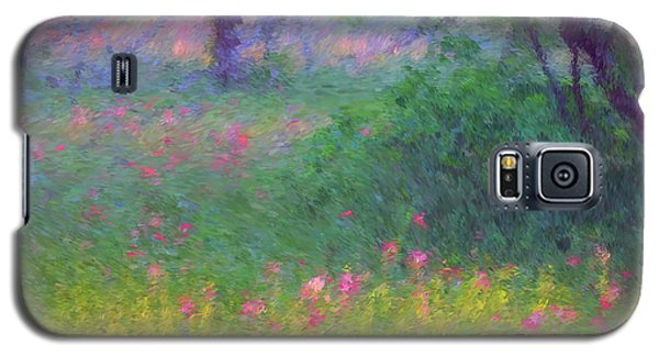 Sunset In Flower Meadow Galaxy S5 Case