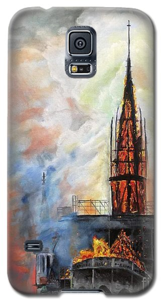 Sunset On Notre Dame Galaxy S5 Case