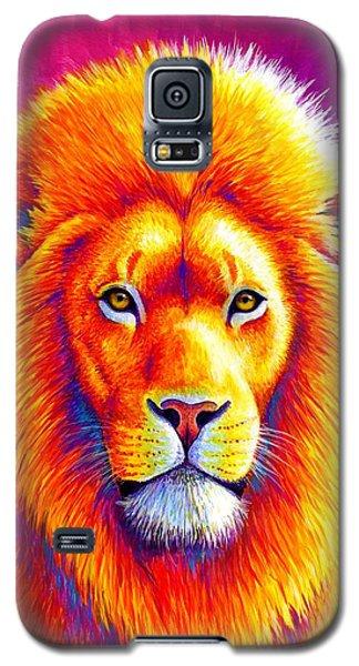 Sunset On The Savanna - African Lion Galaxy S5 Case