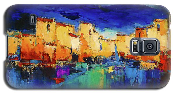 Sunset Galaxy S5 Case - Sunset Over The Village by Elise Palmigiani