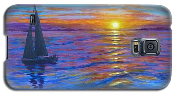 Sunset Sail Galaxy S5 Case