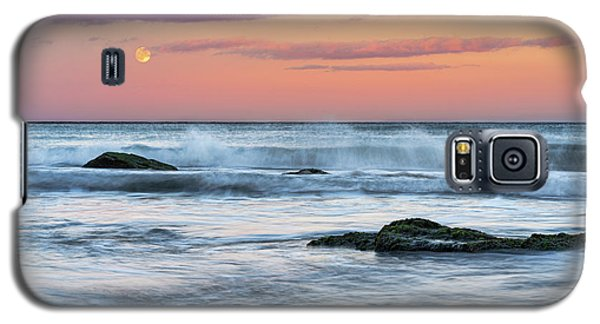 Super Moon And Sunset At Sozopol Town Beach Galaxy S5 Case