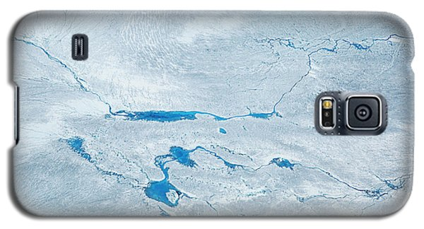 Icy Galaxy S5 Case - Supra Glacial Lakes Over The Ice Sheet by Milan Petrovic