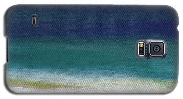 Surf And Sky- Abstract Beach Painting Galaxy S5 Case