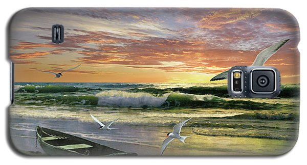 Surf At Sunrise Galaxy S5 Case