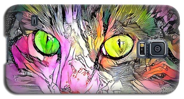Surreal Cat Wild Eyes Galaxy S5 Case