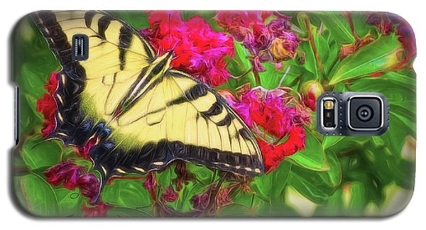 Swallowtail Among Flowers Galaxy S5 Case