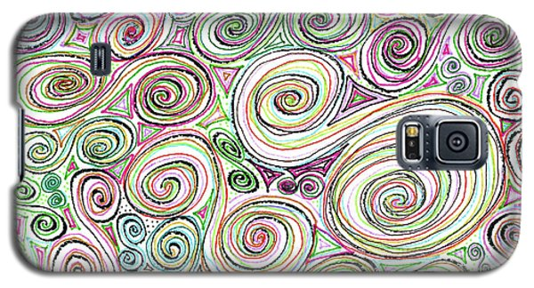 Galaxy S5 Case featuring the drawing Swirls by Corinne Carroll