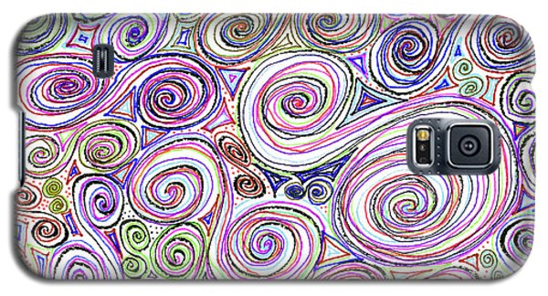 Galaxy S5 Case featuring the drawing Swirls II by Corinne Carroll