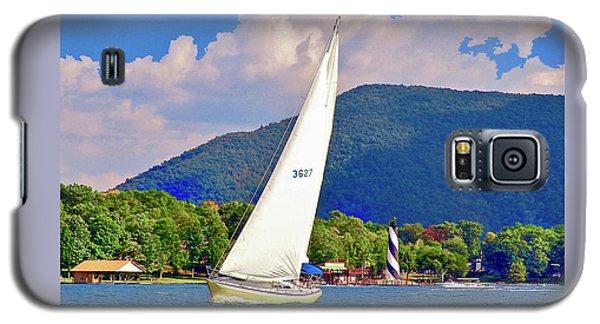 Tacking Lighthouse Sailor, Smith Mountain Lake Galaxy S5 Case