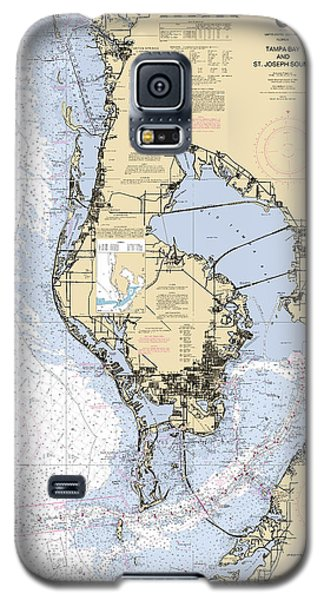 Tampa Bay And St. Joseph Sound Noaa Chart 11412 Galaxy S5 Case