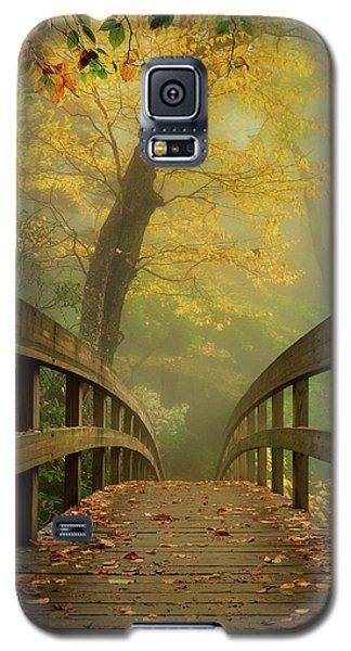 Tanawha Trail Blue Ridge Parkway - Foggy Autumn Galaxy S5 Case