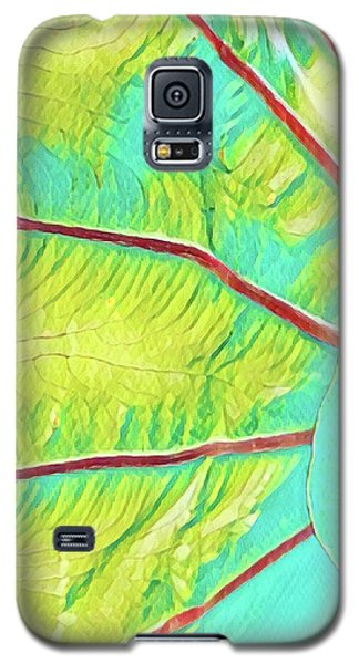 Taro Leaf In Turquoise  Galaxy S5 Case