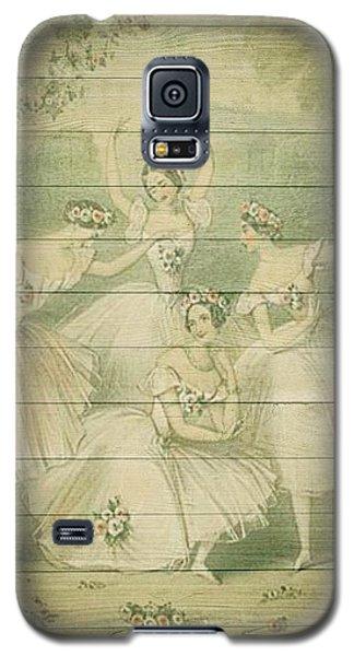 The Ballet Dancers Shabby Chic Vintage Style Portrait Galaxy S5 Case