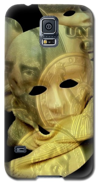 Galaxy S5 Case featuring the digital art The Face Of Greed by ISAW Company