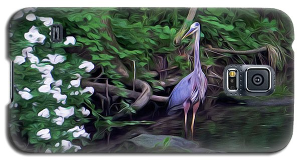 The Great Blue Heron - Impressionism Galaxy S5 Case