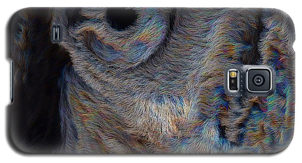 Galaxy S5 Case featuring the digital art The Old Owl That Watches by ISAW Company
